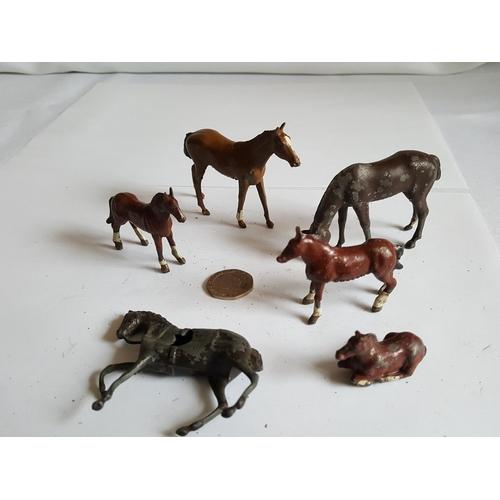 49 - vintage lead horses...