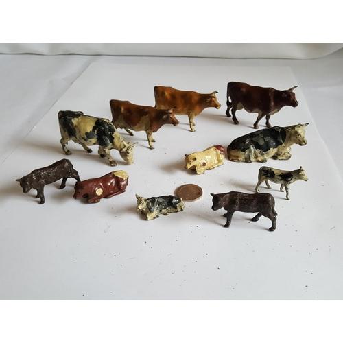 50 - vintage lead cows...