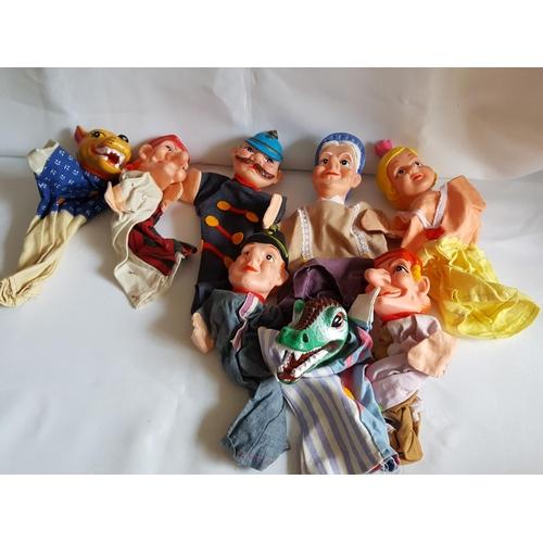 55 - vintage Kasper punch & judy puppets...