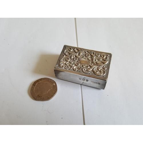 47 - HM silver matchbox holder - c1905...