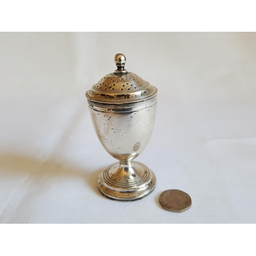 55 - Large HM silver pepper - Chester - c1915...