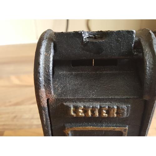 11 - Cast iron post box money box...