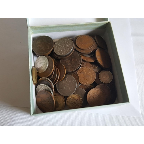 14 - box of vintage coins...