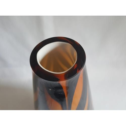 21 - layered art glass vase 30cm...