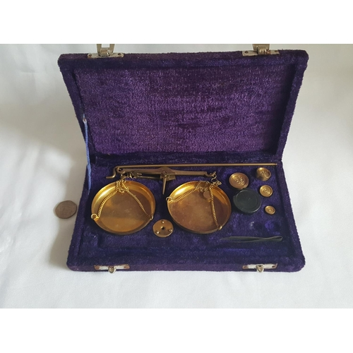 25 - boxed brass scales...
