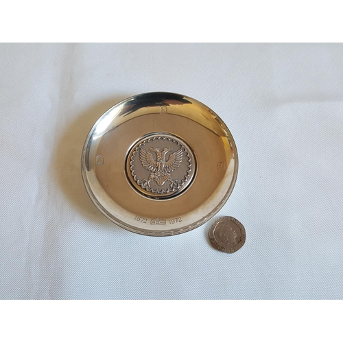 31 - HM silver dish 300th anniversary of Hoares Bank...