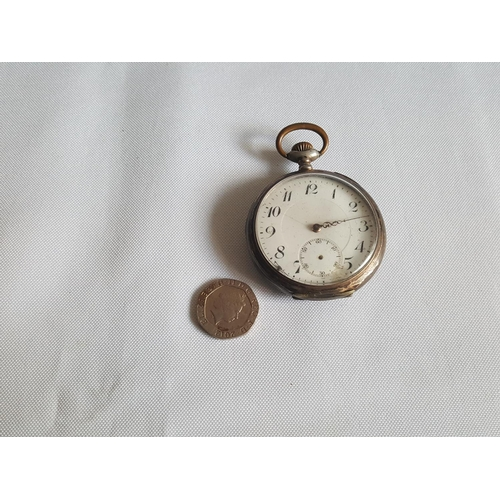 35 - 800 silver pocket watch w/o missing hands...