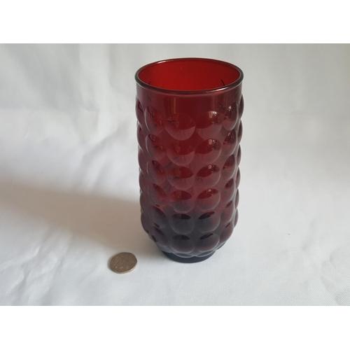 36 - vintage Anchor Hocking glass vase 15cm...