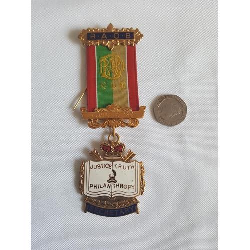 46 - masonic medal Secretary...