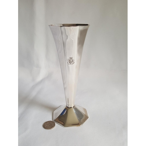 54 - silver plated Orient Express vase...