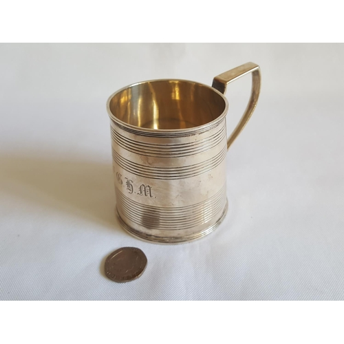 21 - HM silver christening cup...