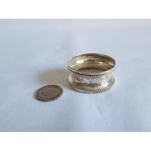 25 - HM silver napkin ring Chester c1914...