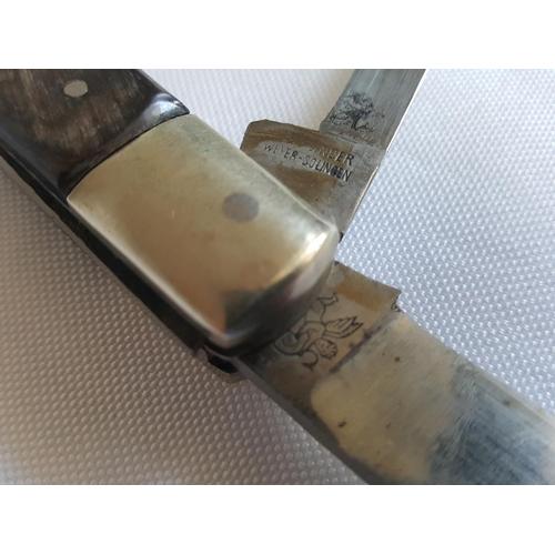 44 - vintage Linder penknife horn handle...