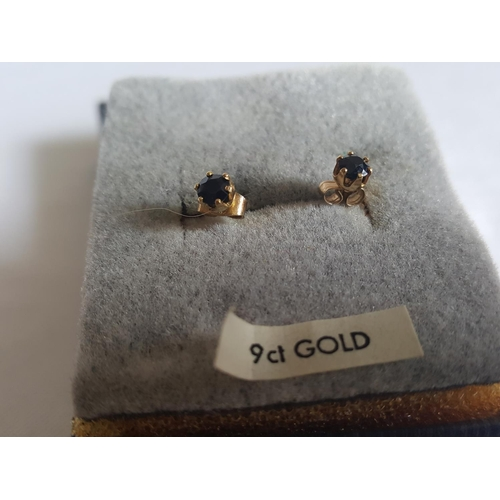 48 - 9ct gold stone set studs...