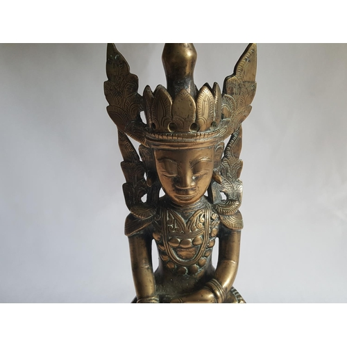 5 - vintage brass Asian god statue...
