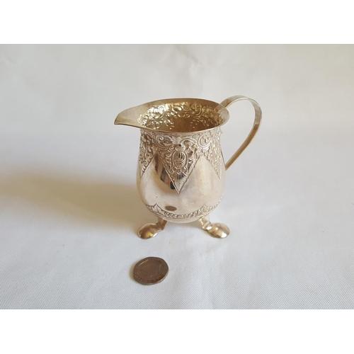 53 - HM 800 silver cream jug...