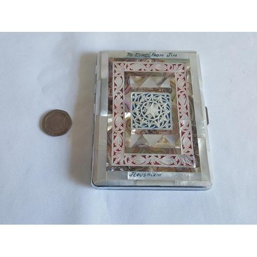 55 - vintage Sylva Chrome & mother of pearl case...