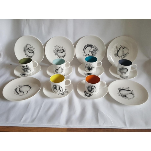 9 - Susie Cooper 6 cups & saucers & 6 side plates 1 cup a/f...