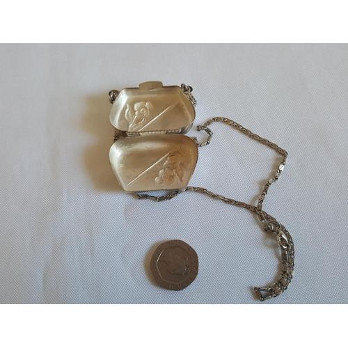 16 - Egyptian silver miniature purse