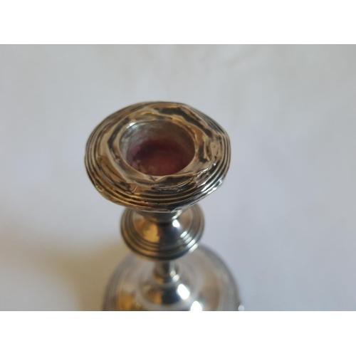 19 - HM silver candle stick a/f