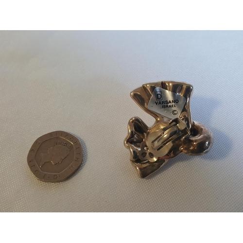 22 - Yarsano Israel silver earring/brooch