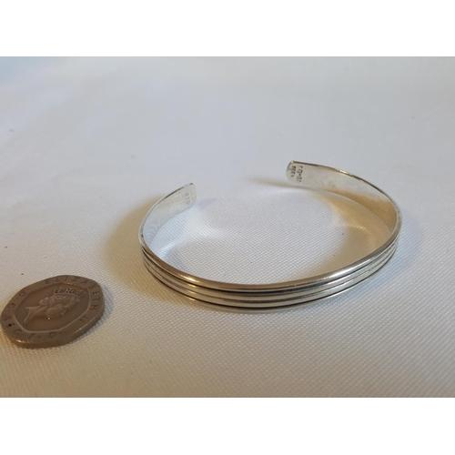 37 - 925 silver open bangle