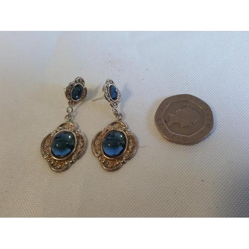 51 - 925 silver drop earrings