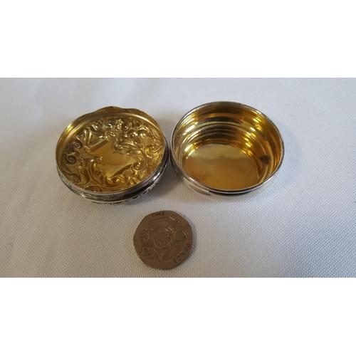 23 - HM silver pill box