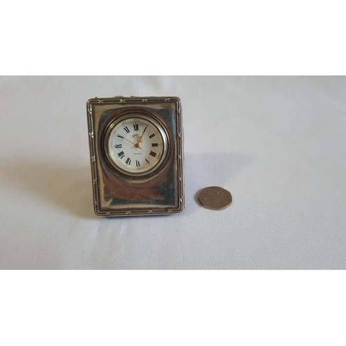 24 - HM silver small clock