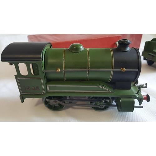 37 - Hornby o gauge clockwork no.501 locomotive reversing with tender