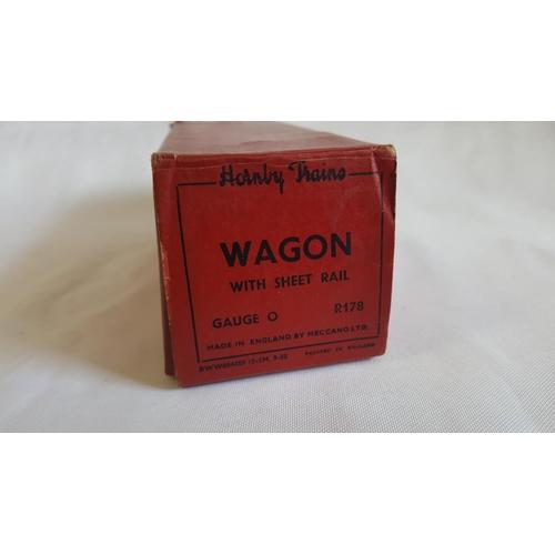 39 - Hornby o gauge wagon with sheet rail R178