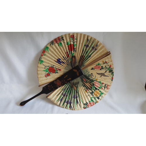 41 - vintage Japanese/Chinese fan with pull out action