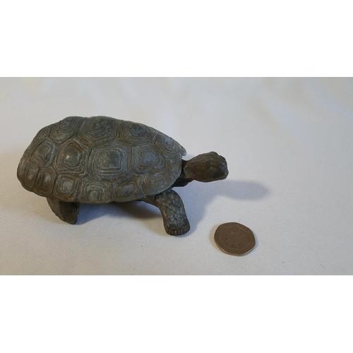 46 - large brass/bronze turtle opening dish