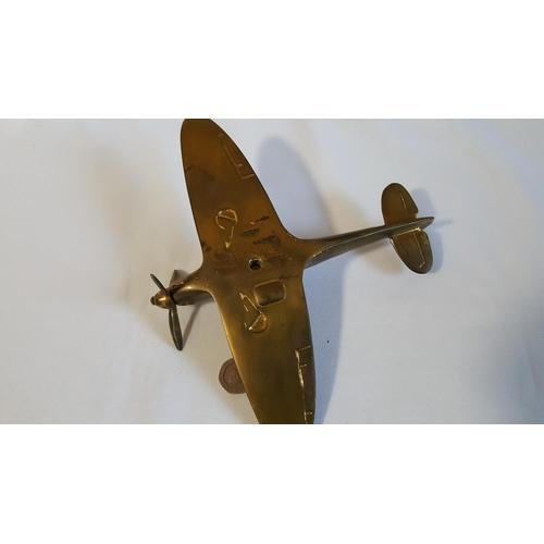 49 - vintage brass spitfire