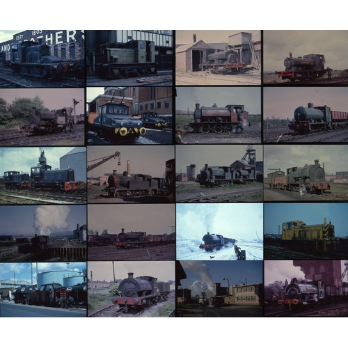 11 - Railway colour slides, 35mm, quantity 95. A selection of duplicate slides featuring Industrial locom...