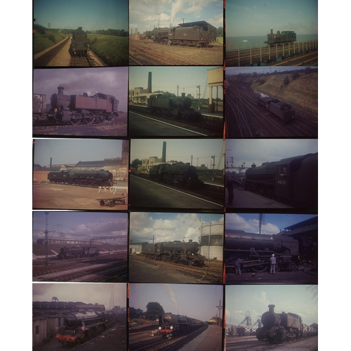 13 - Railway colour slides, medium format-UNMOUNTED. 25 Original positives on Kodak film, good quality sh...