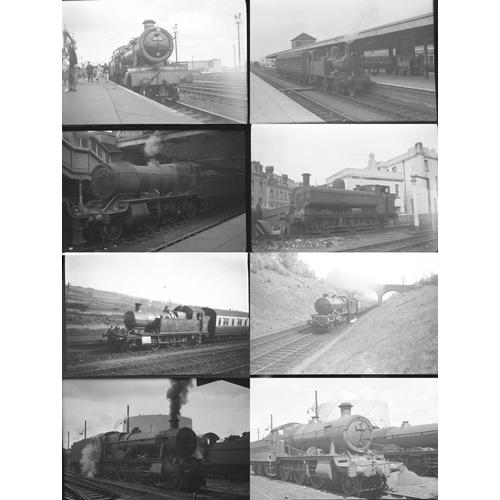 2 - Railway black & white negatives, medium format , quantity 50. A good mix of original negatives showi...