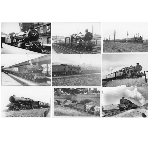 23 - Railway black & white postcard size prints, approx. 100. A selection of GWR/BR (WR) 4-6-0`s mainly p...