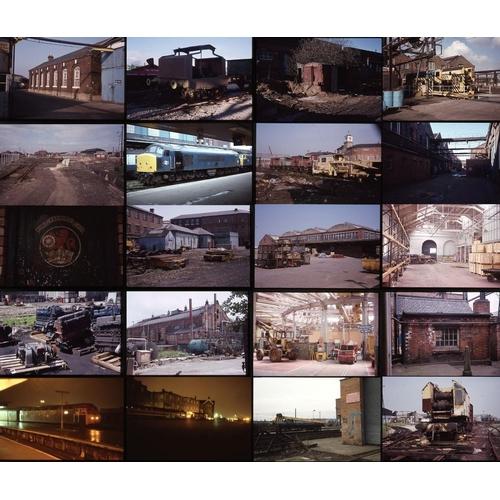 27 - Railway colour slides, 35mm, approx 170  original Kodak film. An interesting lot of photos in and ar...