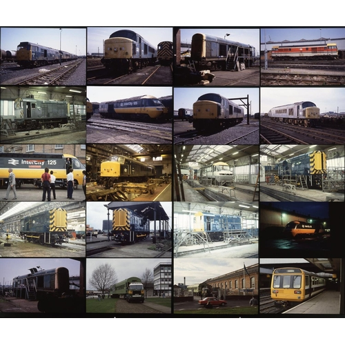 28 - Railway colour slides, 35mm approx. 225 on original Kodak film. Ex-Derby Works employee photos aroun...