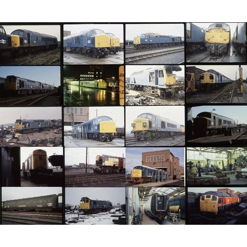 29 - Railway colour slides, 35mm approx. 185 on original Kodak film. Ex-Derby Works employee photos aroun...