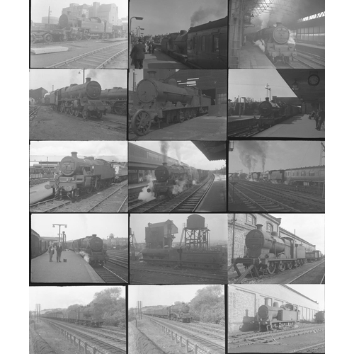 3 - Railway black & white negatives, medium format, quantity 50. A good mix of original negatives showin...