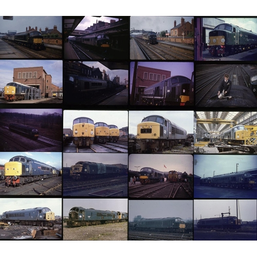 30 - Railway colour slides, 35mm quantity 43, mixed film stock. An interesting selection of