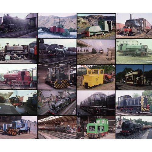 34 - Railway colour slides, 35mm approx 400 on mixed film stock. A mix of all sorts, Heritage steam, Swan...