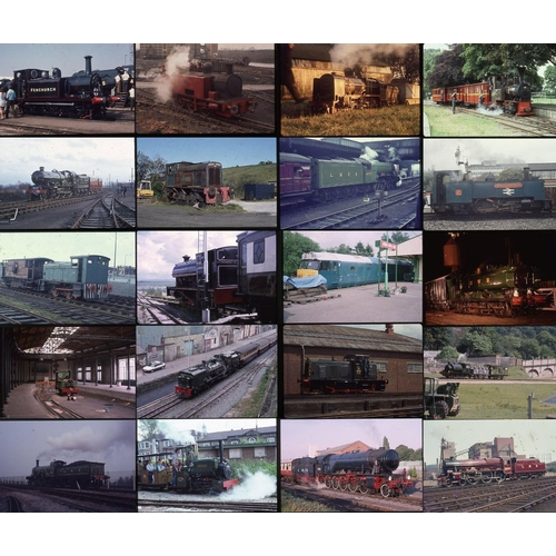 35 - Railway colour slides, 35mm approx 400 on mixed film stock. A mix of all sorts, Heritage steam, narr...