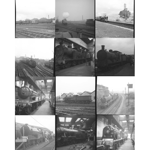 37 - Railway black & white negatives, 35mm & medium format, approx. 50. Good quality selection of ex LNER...