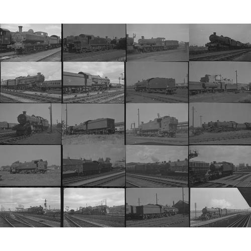 38 - Railway black & white negatives, mostly 35mm & a few medium format, approx. 50. Good quality selecti...