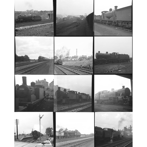 39 - Railway black & white negatives, mostly medium format & a few 35mm, approx. 65. Good quality selecti...