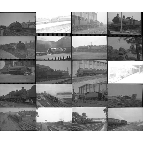 40 - Railway black & white negatives, mostly 35mm & a few medium format, approx. 50. Good quality selecti...