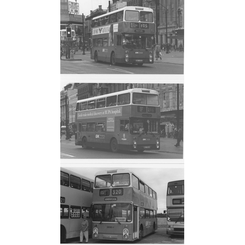 44 - U.K.Bus, Black & White ( a few colour noted) postcard size prints, approx. 200. A good record of bus...
